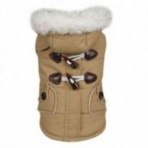Kabát kapucnis mini aranyos kutya dzsekik pamut ruhában Teddy alkalmi meleg téli kak T4Y2 kép