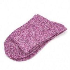 Lila Női gyapjú Cashmere vastag téli meleg, puha szilárd alkalmi sport zokni karácsony kép