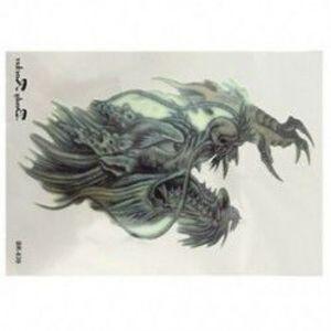 5db Ideiglenes Tetoválás - vízálló matrica - unisex - Keleti sárkányfej mintával - T8H9 kép