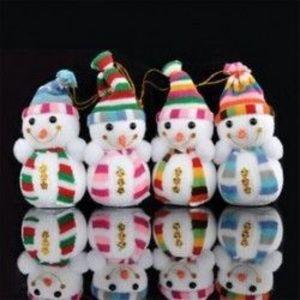 1db 12x7cm-es hóember - Karácsonyi dekoráció - 1 kép