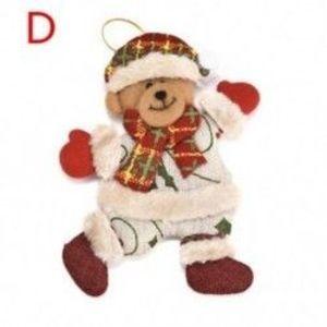 1db 118x140mm-es Karácsonyi ruhás mackó dísz - Karácsonyi dekoráció - 22 D kép