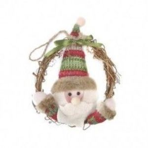 1db 16x16cm-es Télapó - Mikulás Karácsonyi ajtódísz - Ünnepi dísz - Karácsonyi dekoráció - 21 kép