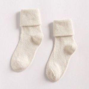 fehér - Női gyapjú 90% kasmír Thermal Zokni Lady puha alkalmi téli zokni Xmas ajándékok kép