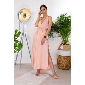 Italy Fashion öves szatén ruha kép