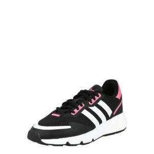 ADIDAS ORIGINALS Rövid szárú edzőcipők fekete / fehér / rózsaszín kép