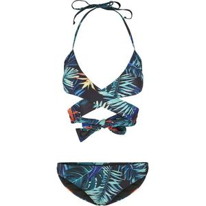 Urban Classics Bikini fekete / kék / benzin / pasztellzöld / sötét narancssárga kép