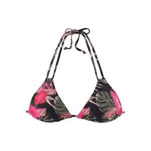 LASCANA Bikini felső fekete / zöld / rózsaszín kép
