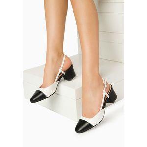 Atienza fehér magassarkú cipők kép