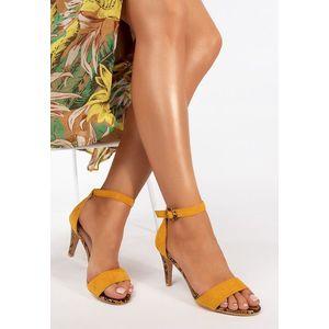 Aryna sárga magassarkú szandál kép