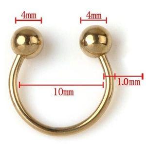 5x Patkó piercing fülbevaló-Arany KP8178 kép