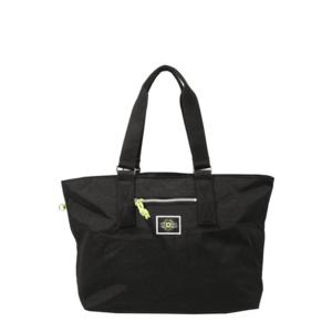 KIPLING Shopper táska 'Jody' fekete / neonzöld / fehér kép