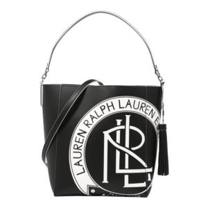Lauren Ralph Lauren Shopper táska 'ADLEY' fekete / fehér kép